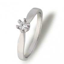 Paris enstens ring 0,10 ct tw/si