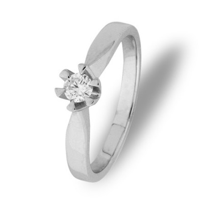 Paris enstens ring 0,15 ct tw/si