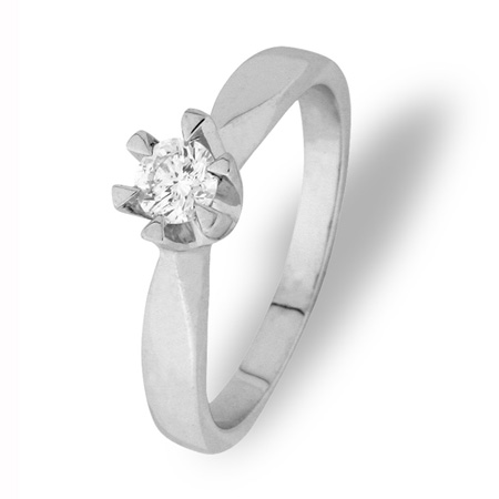 Paris enstens ring 0,25 ct tw/si