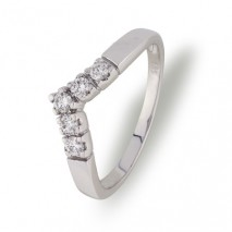 Victoria V-ring 0,25 ct tw/si