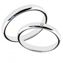 Forlovelsesring gifteringer hvitt gull 1x0,01 diamant ca. 3 mm