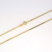 Veneziansk halskjede 1mm, gult gull