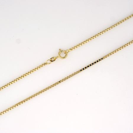 Veneziansk halskjede 1,3mm, gult gull