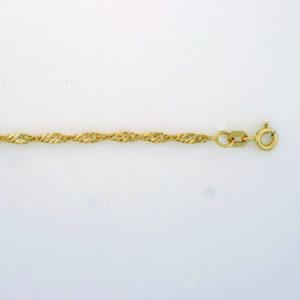 Singapoor armbånd 2,4mm, gult gull