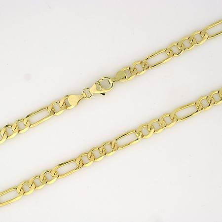 Figaro halskjede 4,3mm, gult gull