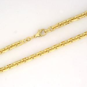 Anker halskjede 4,0mm, gult gull