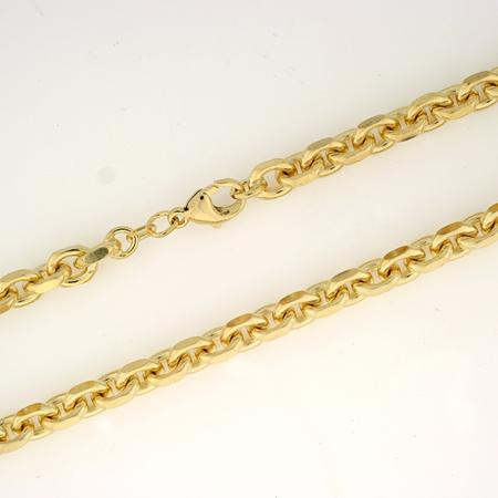 Anker halskjede 5,0 mm, gult gull