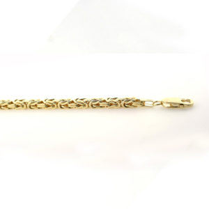 Konge armbånd 3,7mm, gult gull