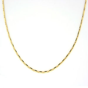Eleganse collier 2,4mm, gult gull