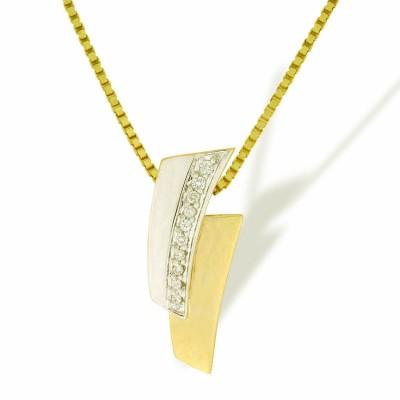 Anheng i gult og hvitt gull med 0,07 tw/si.