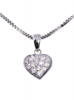 Stine smykke hvitt gull og 0,12 tw/si diamanter.