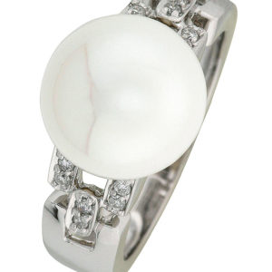 Leona ring i hvitt gull 11mm FVP + 0,12 TW/SI