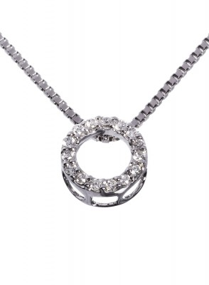 Diamantsmykke 0,15 carat tw/si diamanter.