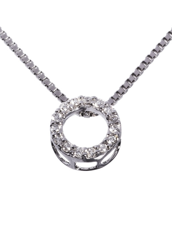 Diamantsmykke 0,15 carat tw/si diamanter.