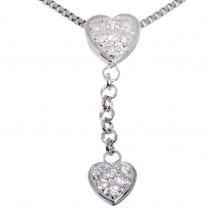 Diamantsmykke i hvitt gull 0,15 carat tw/si diamanter.