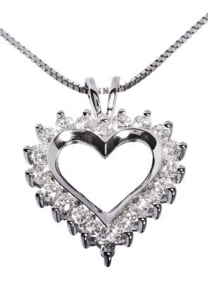 Diamanthjerte Love 1,50 tw/si diamanter.