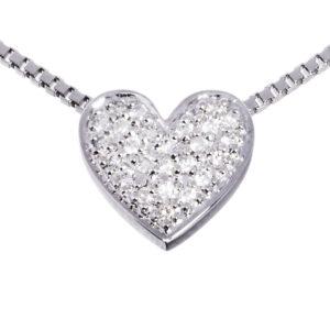 Diamanthjerte hvitt gull 0,15 tw/si