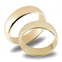 Forlovelsesringer gifteringer gult gull glatte ca. 6 mm