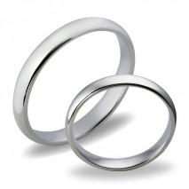 Forlovelsesringer gifteringer i hvitt gull glatte ca. 3mm