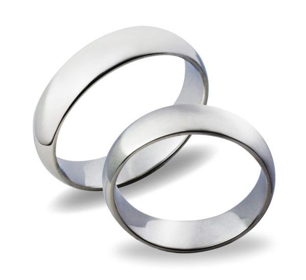 Forlovelseringer gifteringer hvitt gull glatte ca. 5 mm