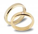 Forlovelsesringer gifteringer gult gull 1x0,03 diamant ca 4mm