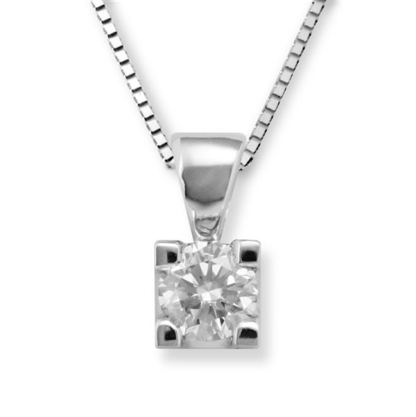 Lykke 0,40ct tw/si enstens diamantanheng