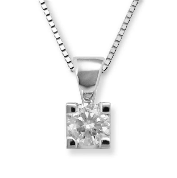 Lykke 0,50ct tw/si enstens diamantanheng