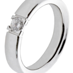 Alliansering hvitt gull 1x 0,15 ct tw/si