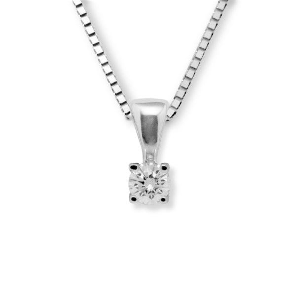 Lykke 0,10ct tw/si enstens diamantanheng