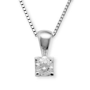 Lykke 0,15ct tw/si enstens diamantanheng