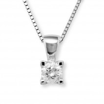 Lykke 0,20ct tw/si enstens diamantanheng