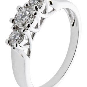 Diamantring hvitt gull Forever 0,70 tw/si diamanter.