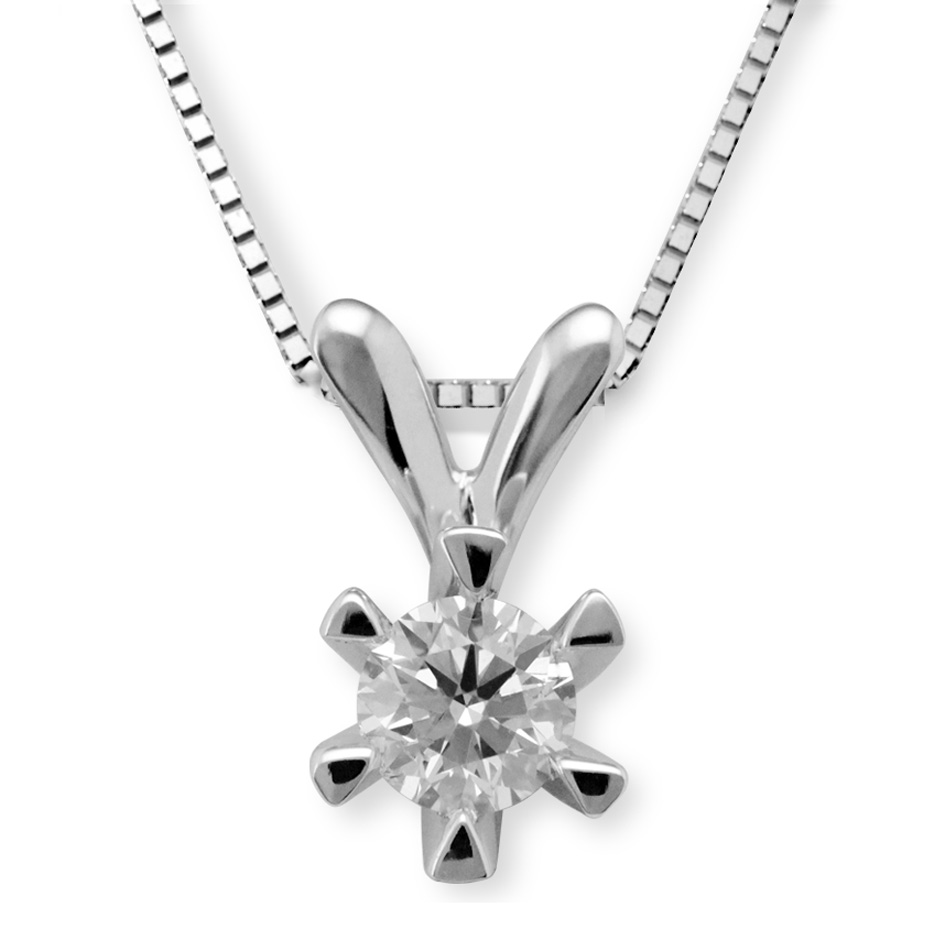 Paris 0,54ct tw/si1 (EGL) enstens diamantanheng