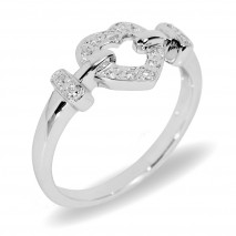 Love ring hvitt gull 0,10 tw/si.